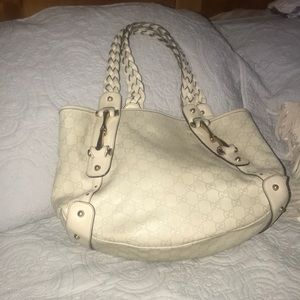 "Gucci Pelham leather hobo tote app17x11x4&8""drop"